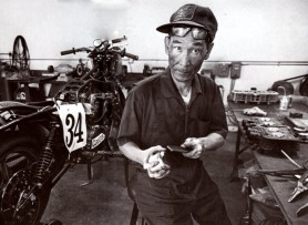 Engineer and visionary Pops Yoshimura, tinkering