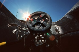 The helm of the MP4/5: almost mechanistic, starkly beautiful...