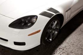 Design cues evoke something classic, even European about the Corvette badge