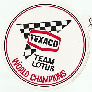 Tecaco world champions Lotus fittipaldi