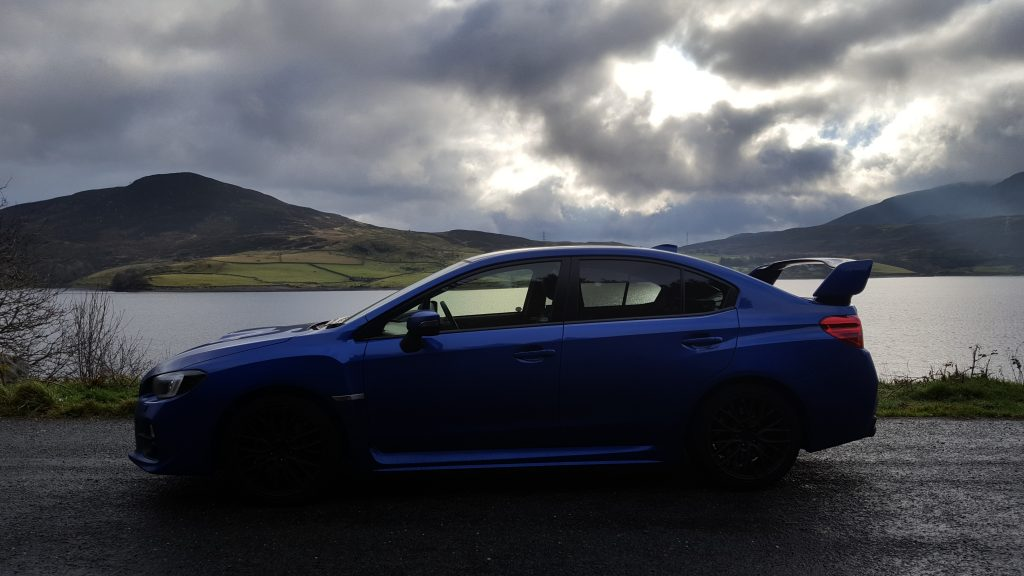 side profile of Subaru WRX STi