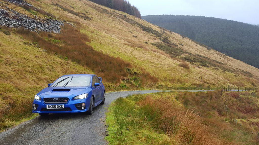 Subaru WRX STi in mountains