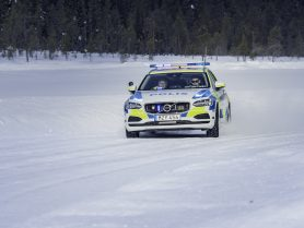 Volvo police car